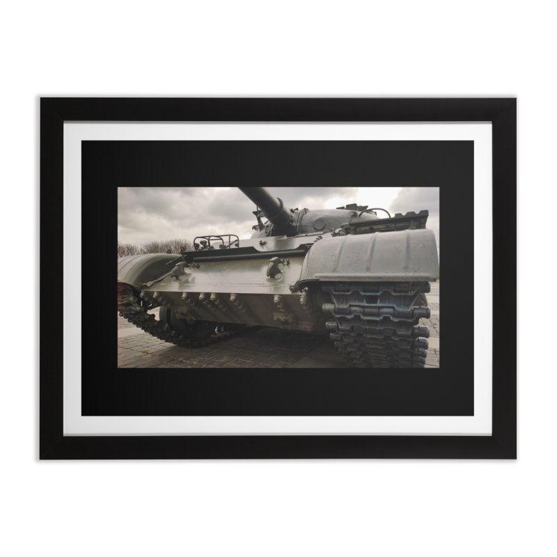 Soviet era T-62 Main Battle Tank - Right Home Framed Fine Art Print by Pixel Panzers's Merchandise