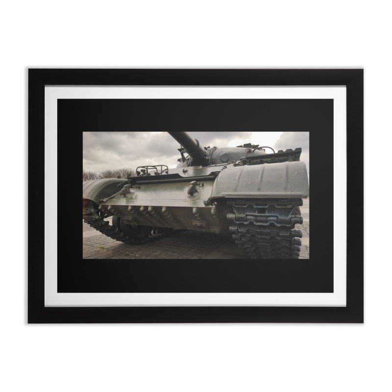 Soviet era T-62 Main Battle Tank - Right Home Framed Fine Art Print by Pixel Panzers's Merchandise