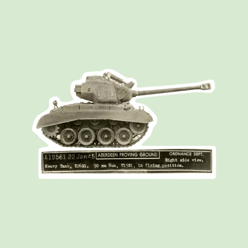 Mini Super Pershing Heavy Tank by Pixel Panzers's Merchandise