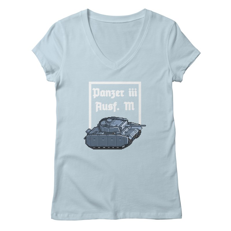 Panzer III Ausf. M Women's Regular V-Neck by Pixel Panzers's Merchandise
