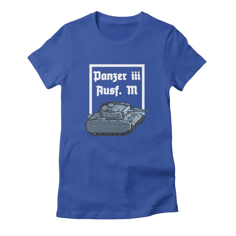 Panzer III Ausf. M Women's Fitted T-Shirt by Pixel Panzers's Merchandise