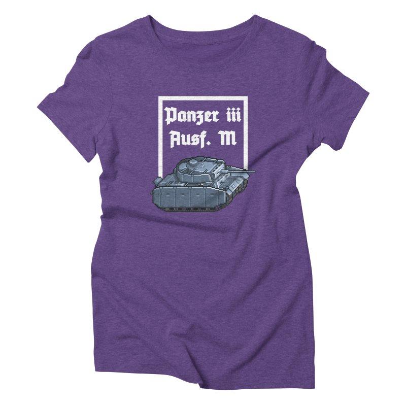 Panzer III Ausf. M Women's Triblend T-Shirt by Pixel Panzers's Merchandise