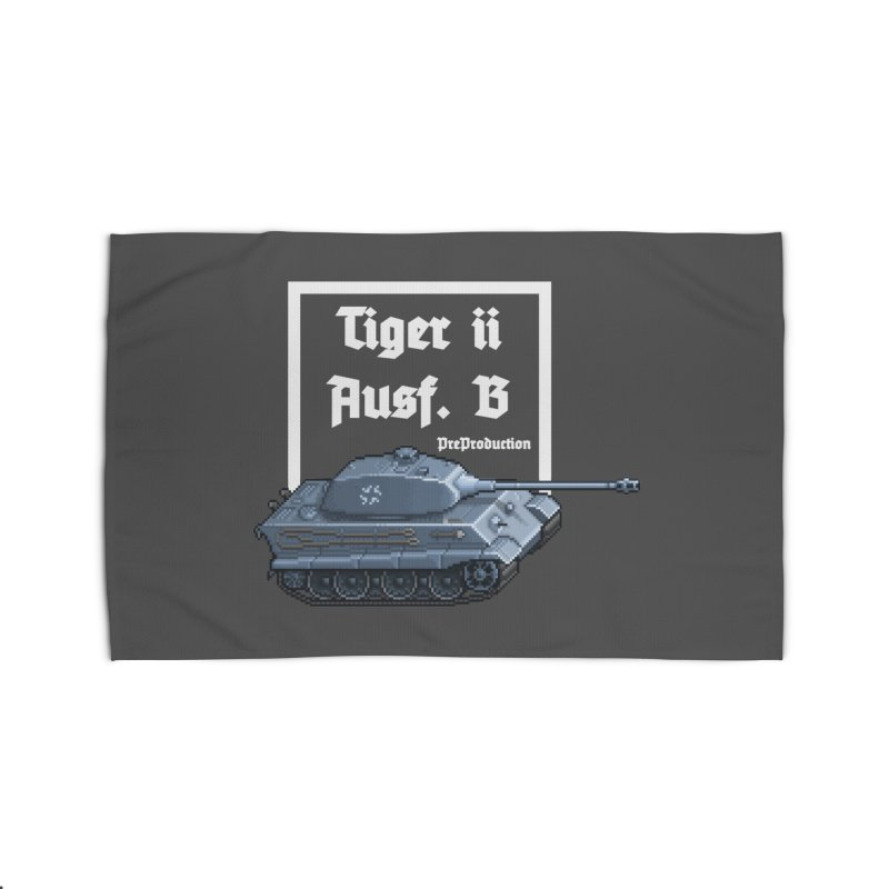 Pzkpfw VI Tiger II Ausf. B Early Production Home Rug by Pixel Panzers's Merchandise