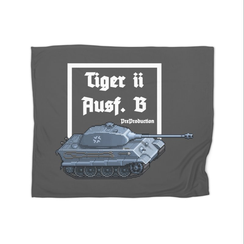 Pzkpfw VI Tiger II Ausf. B Early Production Home Fleece Blanket Blanket by Pixel Panzers's Merchandise