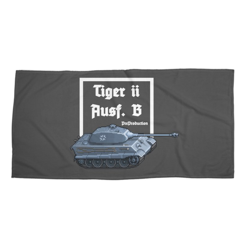 Pzkpfw VI Tiger II Ausf. B Early Production Accessories Beach Towel by Pixel Panzers's Merchandise