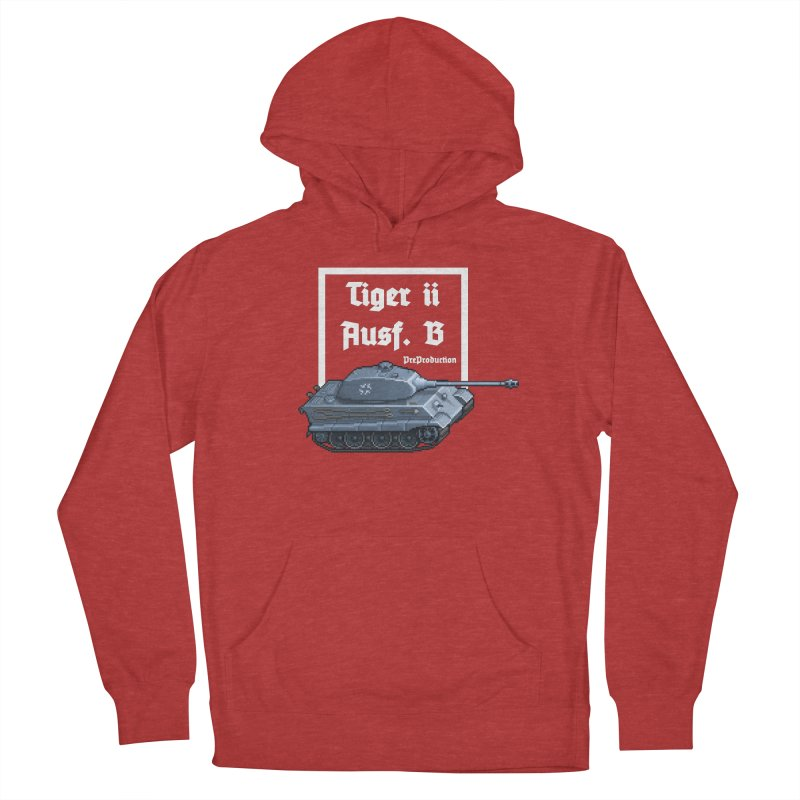 Pzkpfw VI Tiger II Ausf. B Early Production Women's French Terry Pullover Hoody by Pixel Panzers's Merchandise