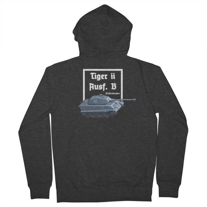 Pzkpfw VI Tiger II Ausf. B Early Production Women's Zip-Up Hoody by Pixel Panzers's Merchandise