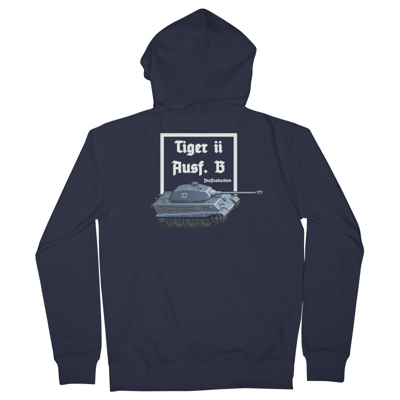 Pzkpfw VI Tiger II Ausf. B Early Production Women's French Terry Zip-Up Hoody by Pixel Panzers's Merchandise