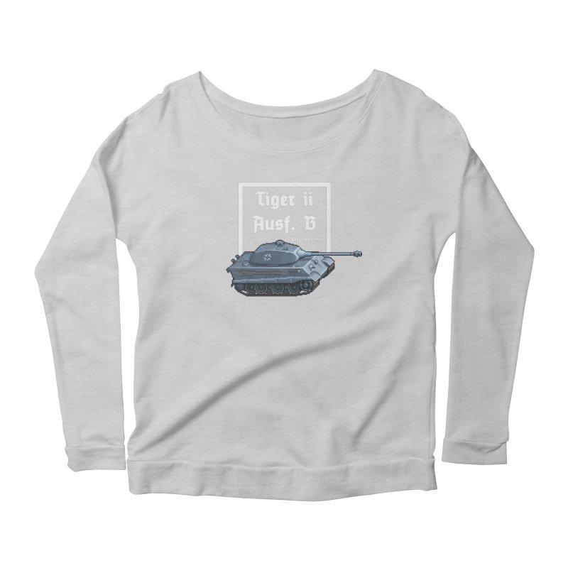Pzkpfw VI Tiger II Ausf. B Early Production Women's Scoop Neck Longsleeve T-Shirt by Pixel Panzers's Merchandise