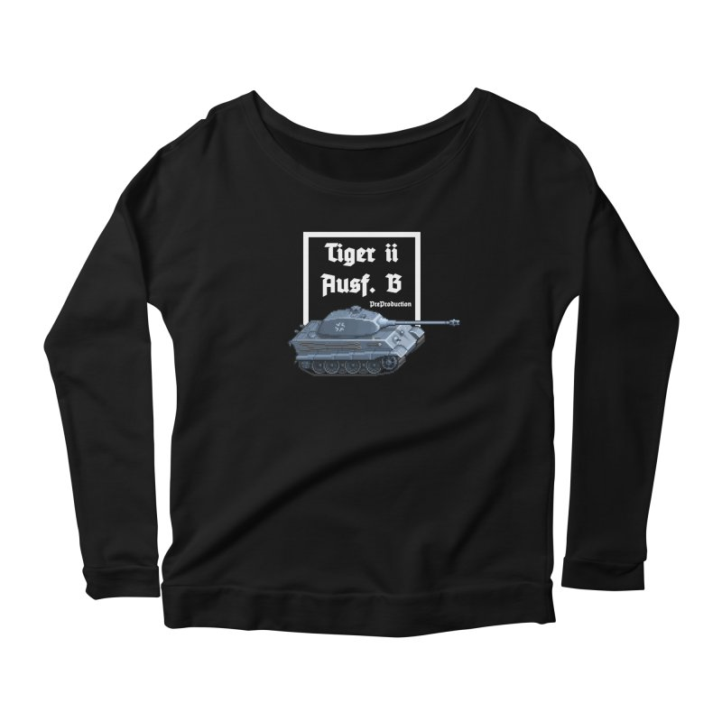 Pzkpfw VI Tiger II Ausf. B Early Production Women's Scoop Neck Longsleeve T-Shirt by Pixel Panzers's Merchandise