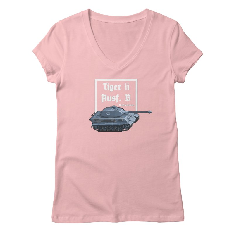 Pzkpfw VI Tiger II Ausf. B Early Production Women's Regular V-Neck by Pixel Panzers's Merchandise