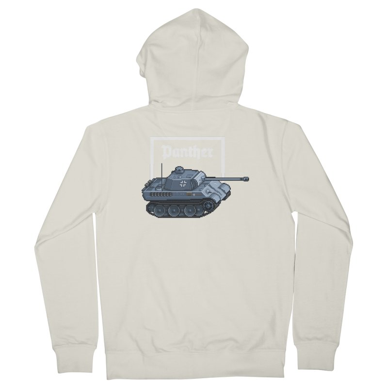 Panther - Pzkpf V. Women's French Terry Zip-Up Hoody by Pixel Panzers's Merchandise