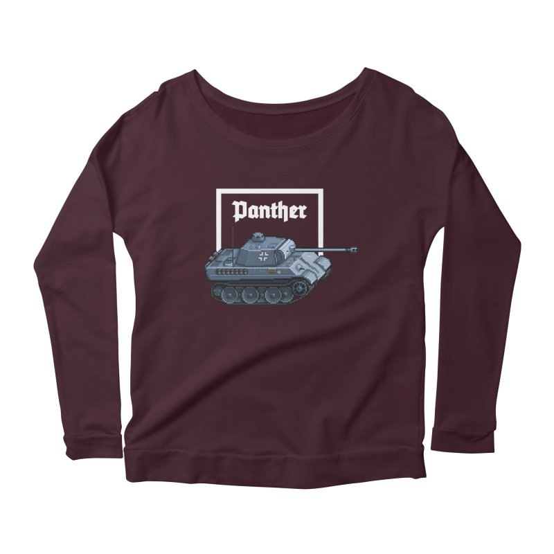 Panther - Pzkpf V. Women's Longsleeve Scoopneck  by Pixel Panzers's Merchandise