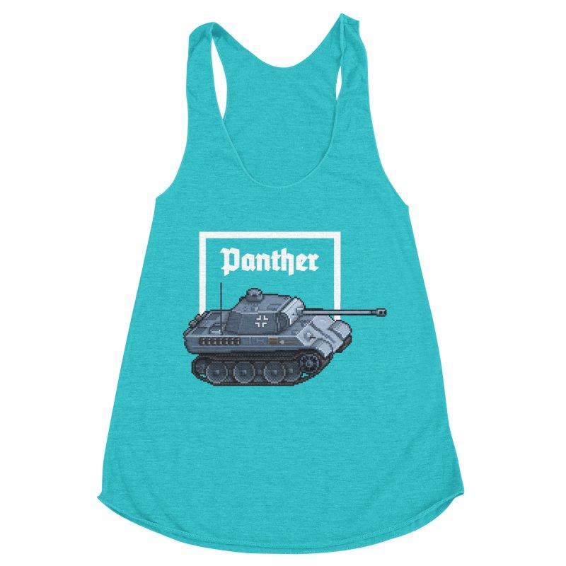 Panther - Pzkpf V. Women's Racerback Triblend Tank by Pixel Panzers's Merchandise