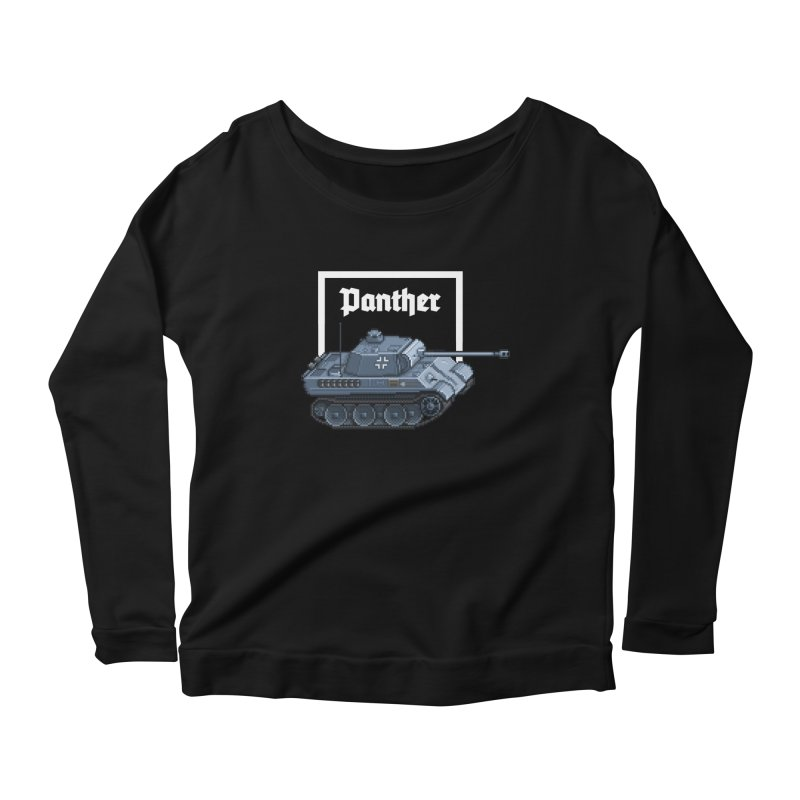 Panther - Pzkpf V. Women's Scoop Neck Longsleeve T-Shirt by Pixel Panzers's Merchandise