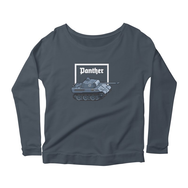 Panther - Pzkpf V. Women's Scoop Neck Longsleeve T-Shirt by Pixel Panzers's Merchandise