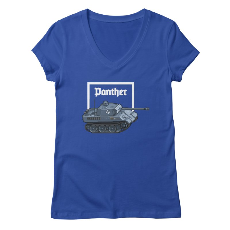 Panther - Pzkpf V. Women's V-Neck by Pixel Panzers's Merchandise