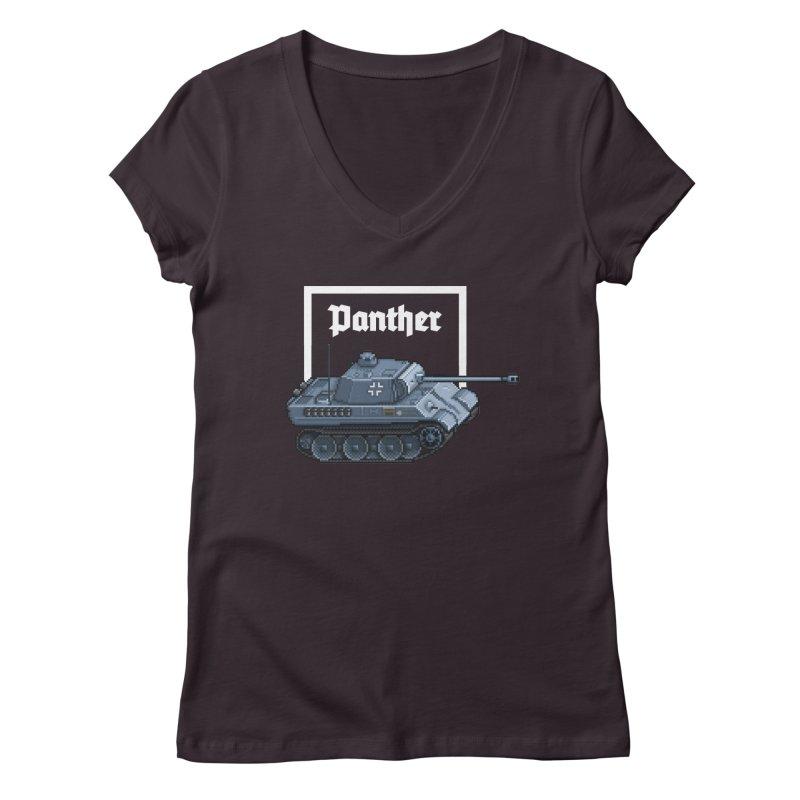 Panther - Pzkpf V. Women's Regular V-Neck by Pixel Panzers's Merchandise