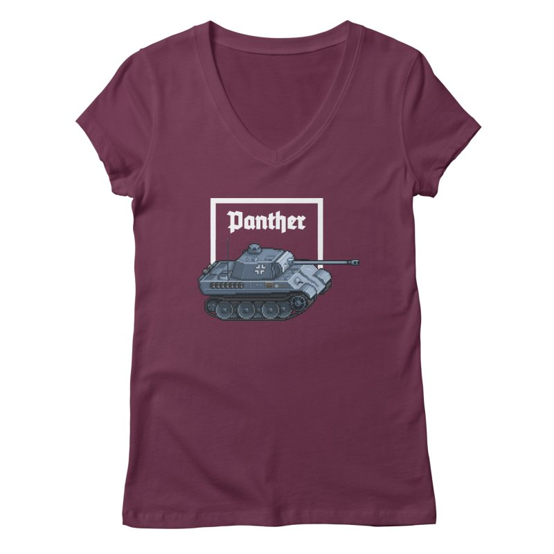 Panther - Pzkpf V. Women's Regular V-Neck by Pixel Panzers's Merchandise