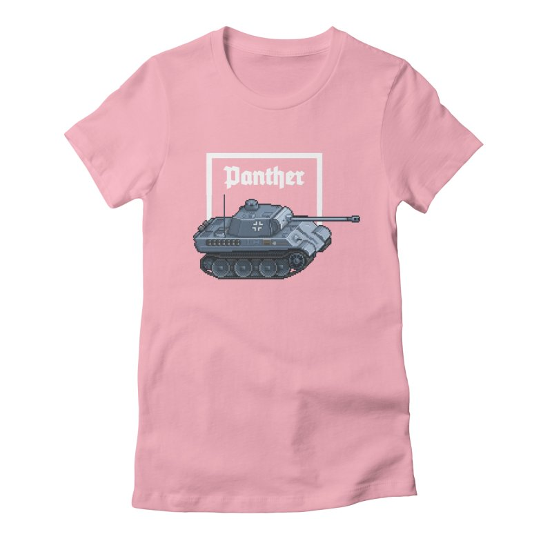 Panther - Pzkpf V. Women's Fitted T-Shirt by Pixel Panzers's Merchandise