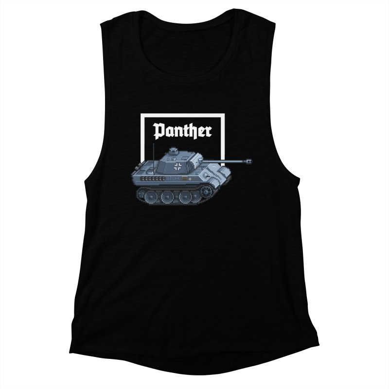 Panther - Pzkpf V. Women's Muscle Tank by Pixel Panzers's Merchandise