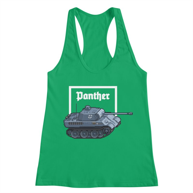 Panther - Pzkpf V. Women's Racerback Tank by Pixel Panzers's Merchandise