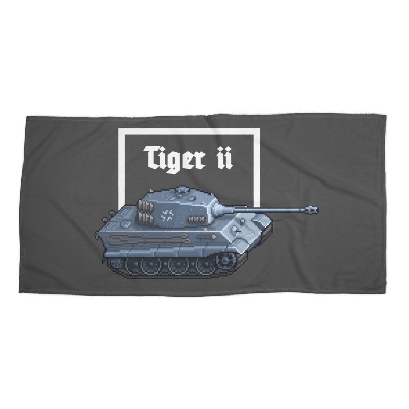 Tiger II Accessories Beach Towel by Pixel Panzers's Merchandise
