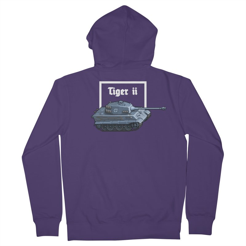 Tiger II Women's French Terry Zip-Up Hoody by Pixel Panzers's Merchandise
