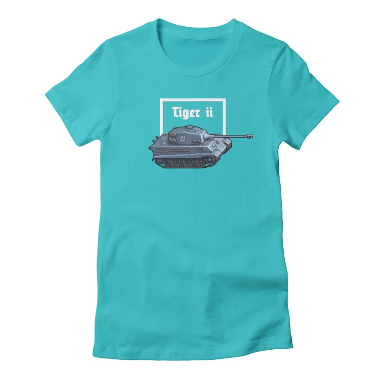 Tiger II Women's Fitted T-Shirt by Pixel Panzers's Merchandise