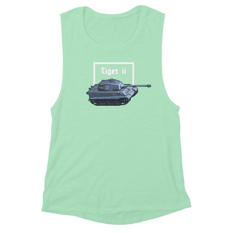 Tiger II Women's Muscle Tank by Pixel Panzers's Merchandise