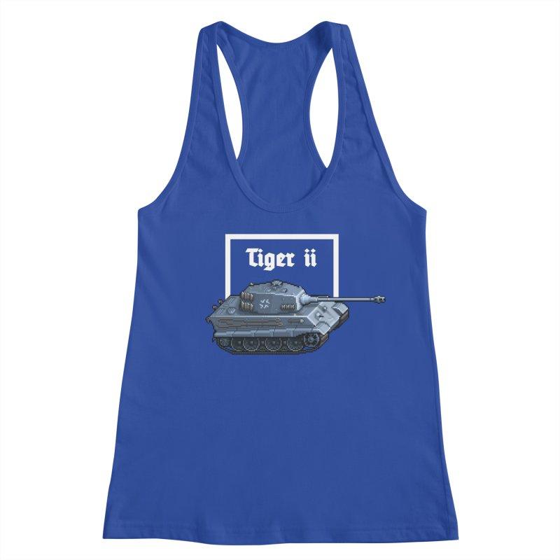 Tiger II Women's Racerback Tank by Pixel Panzers's Merchandise