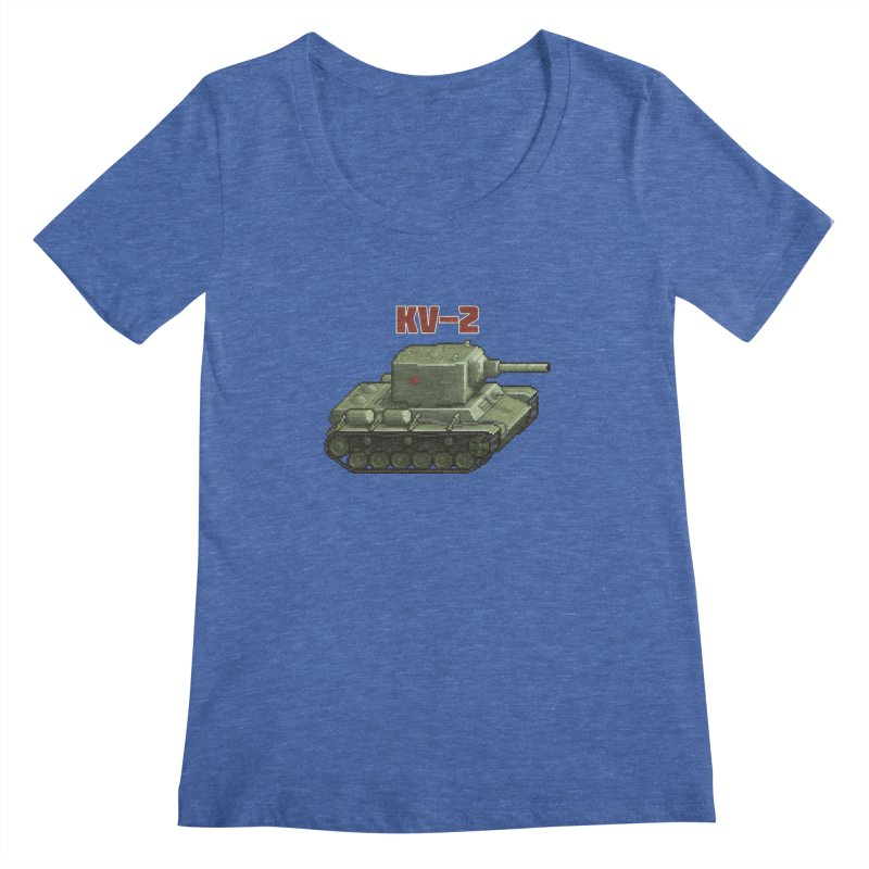 KV2 Women's Scoopneck by Pixel Panzers's Merchandise