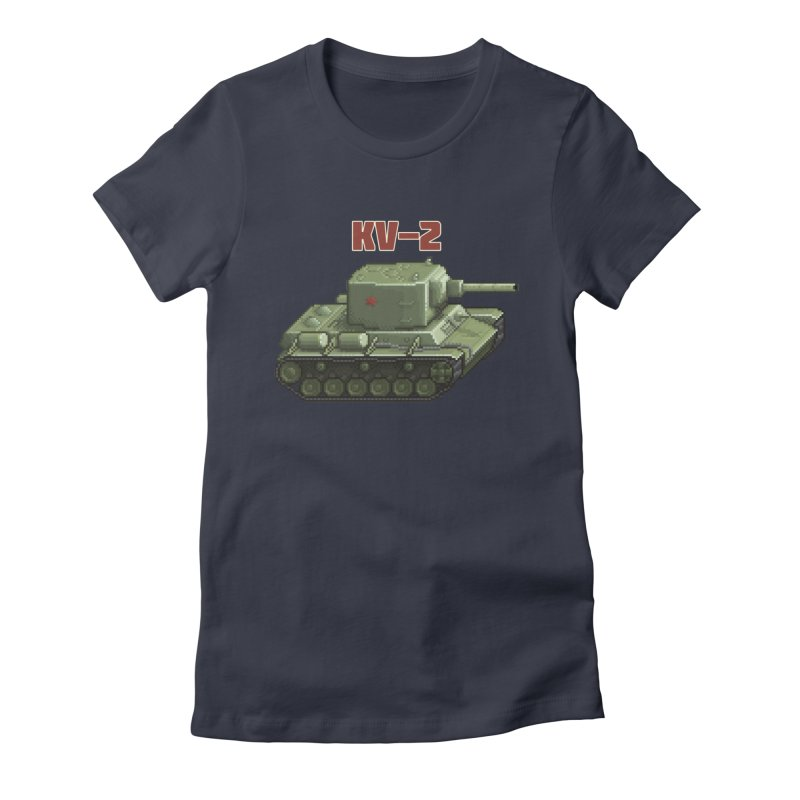 KV2 Women's Fitted T-Shirt by Pixel Panzers's Merchandise
