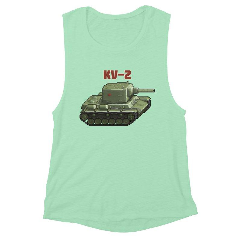 KV2 Women's Muscle Tank by Pixel Panzers's Merchandise