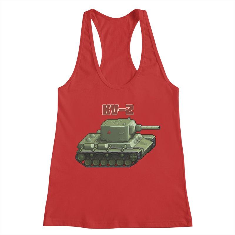 KV2 Women's Racerback Tank by Pixel Panzers's Merchandise