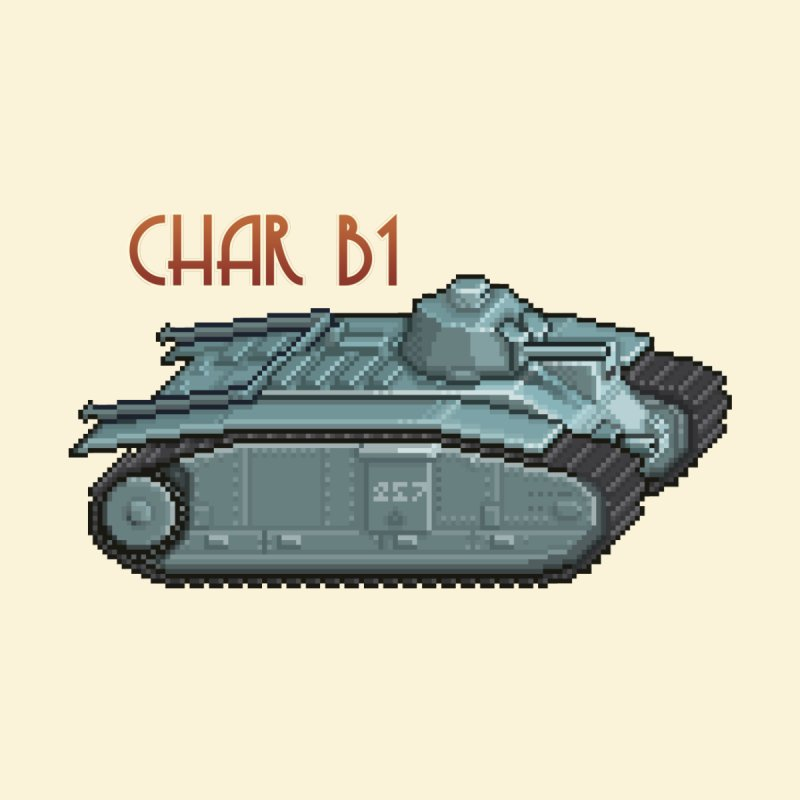 Char B1 by Pixel Panzers's Merchandise