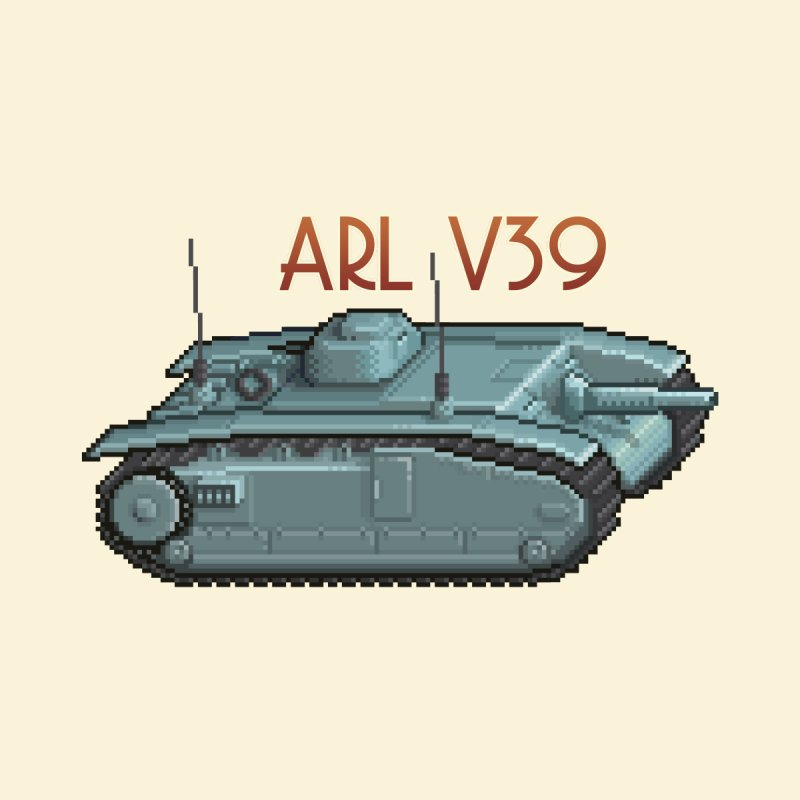 ARL V39 by Pixel Panzers's Merchandise