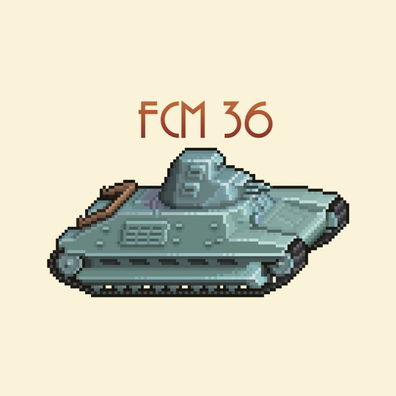 FCM 36 by Pixel Panzers's Merchandise