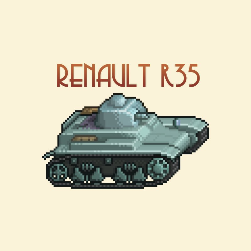 Renault R35 by Pixel Panzers's Merchandise