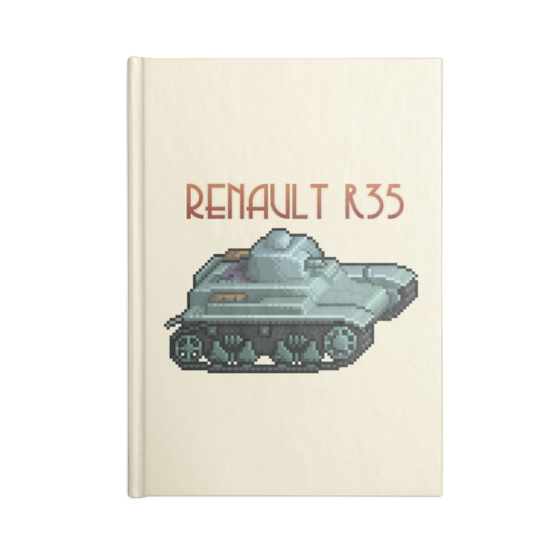 Renault R35 Accessories Notebook by Pixel Panzers's Merchandise