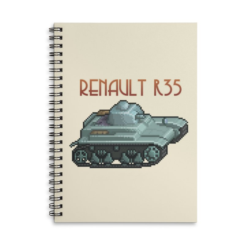 Renault R35 Accessories Lined Spiral Notebook by Pixel Panzers's Merchandise