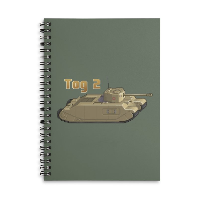 Tog 2 Accessories Lined Spiral Notebook by Pixel Panzers's Merchandise