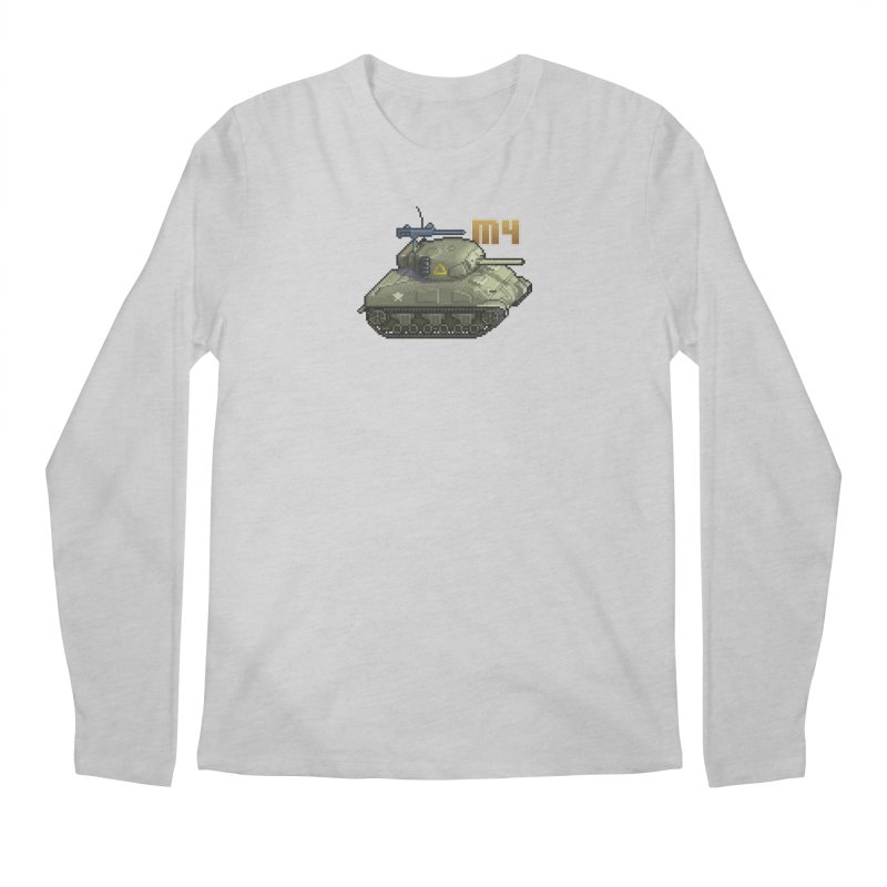 M4 Sherman Men's Regular Longsleeve T-Shirt by Pixel Panzers's Merchandise