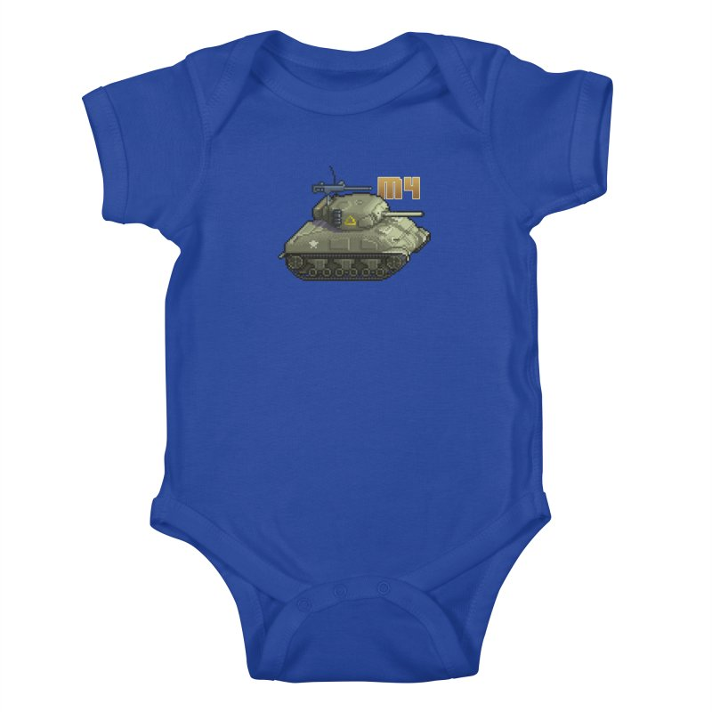 M4 Sherman Kids Baby Bodysuit by Pixel Panzers's Merchandise