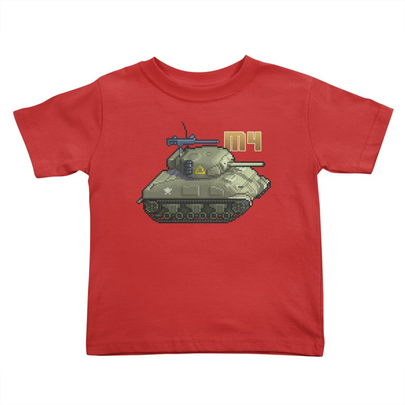 M4 Sherman Kids Toddler T-Shirt by Pixel Panzers's Merchandise
