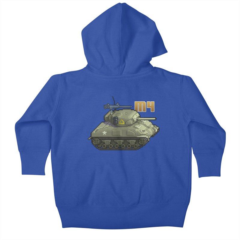 M4 Sherman Kids Baby Zip-Up Hoody by Pixel Panzers's Merchandise