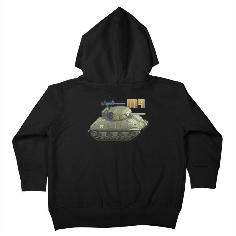 M4 Sherman Kids Toddler Zip-Up Hoody by Pixel Panzers's Merchandise