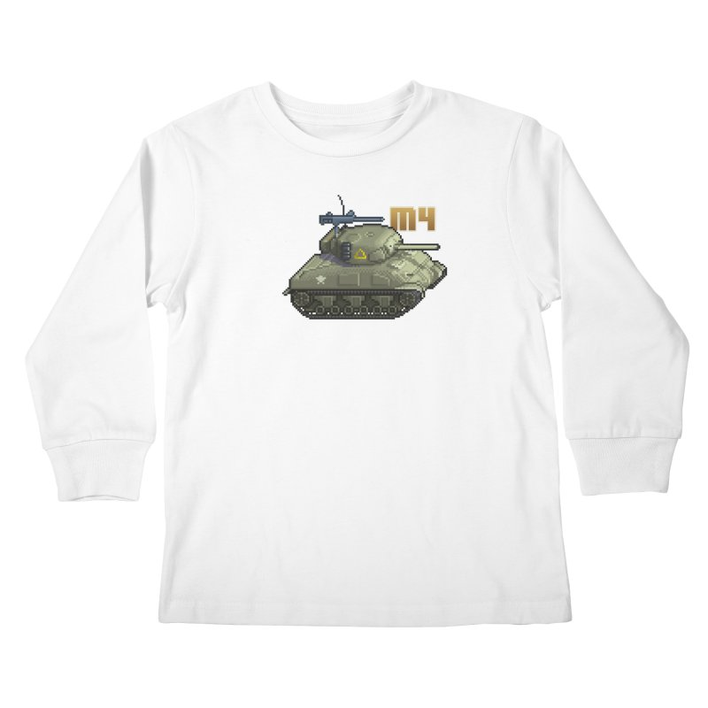 M4 Sherman Kids Longsleeve T-Shirt by Pixel Panzers's Merchandise