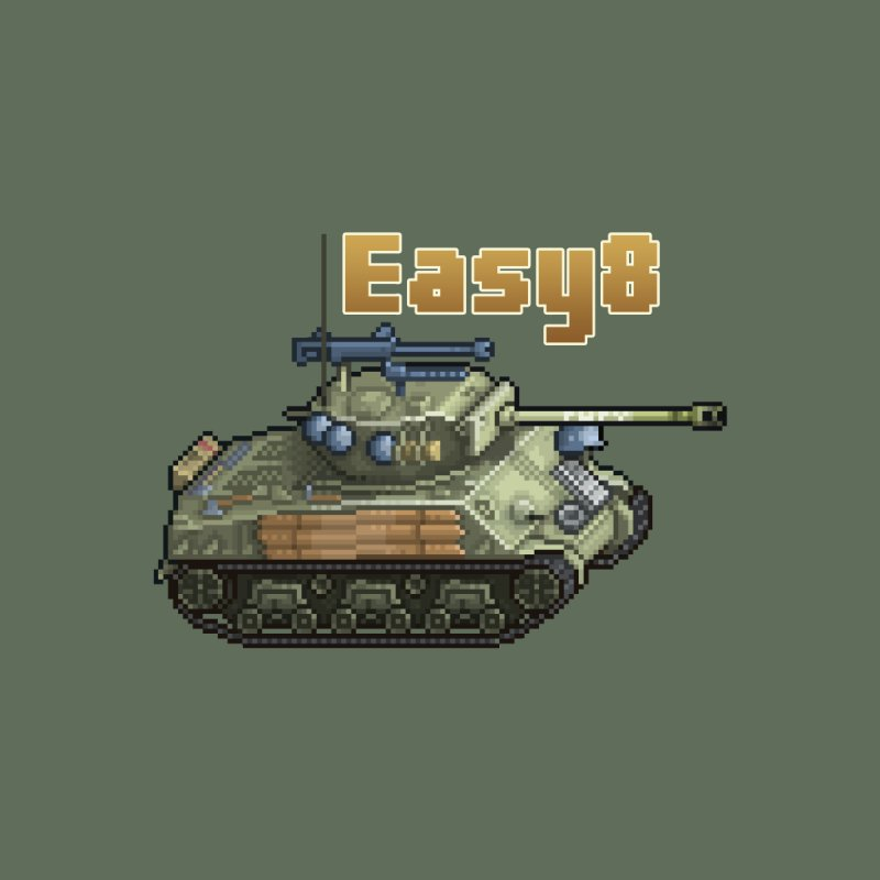 Easy 8 (M4A3E8) Sherman by Pixel Panzers's Merchandise