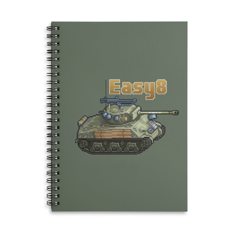 Easy 8 (M4A3E8) Sherman Accessories Lined Spiral Notebook by Pixel Panzers's Merchandise